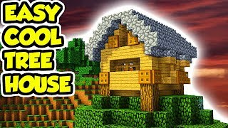 Minecraft How to Build a Tree House Tutorial (EASY)