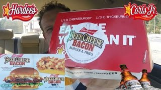 Hardees Budweiser Beer Cheese Bacon Burger - Review