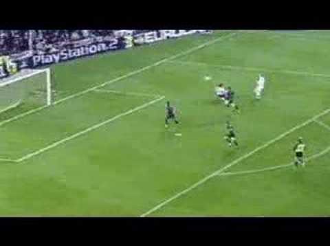 Goal Gol Mcmanaman Real Madrid Vs Barcelona Champions 2002]