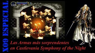 Las Armas más impresionantes de Castlevania Symphony of the Night