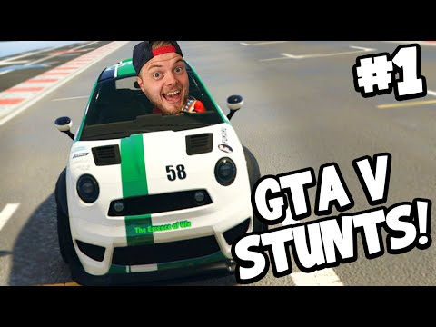 SquiddyPlays - GTA V STUNTS! - EPIC MINI CARS! #1