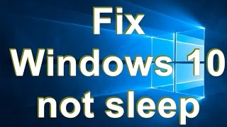 Windows 10 not sleep