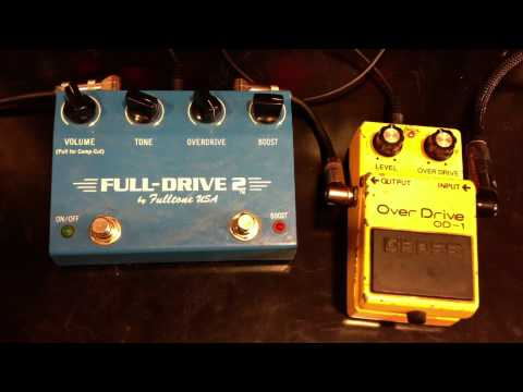 Fulltone Fulldrive 2 vs Vintage Boss OD-1