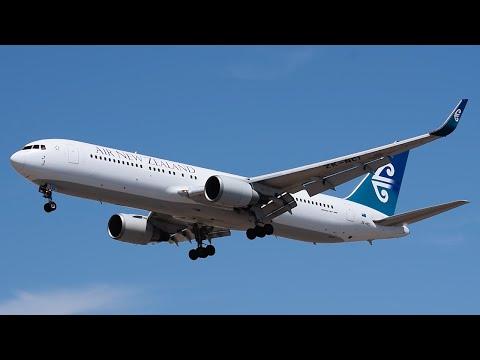 Air New Zealand Boeing 767-300ER [ZK-NCI] Landing at LAX.