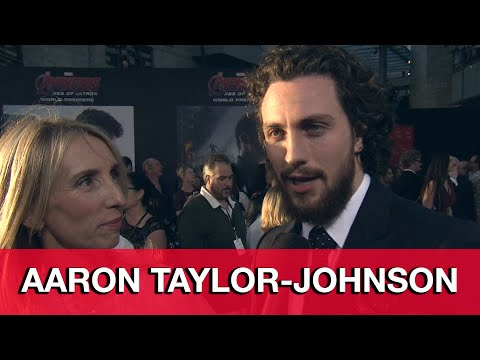 Aaron Taylor-Johnson Avengers Age of Ultron Premiere Interview