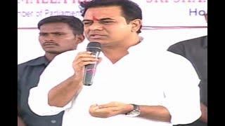 Minister KTR Speech In ORR Junction At Kandlakoya | Medchal Dist