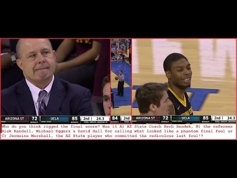 PROOF of Point Shaving Corruption Scandal NCAA Game Arizona St vs UCLA Bruins 1/12/14 VEGAS RIGGED
