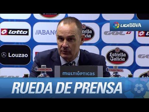 Rueda de prensa de Víctor Fernández tras el Deportivo de la Coruña (0-2) Celta de Vigo