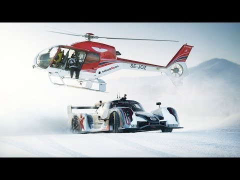 Supercar Drifting Uphill in Snow - Jon Olsson's Rebellion R2K - Team Betsafe