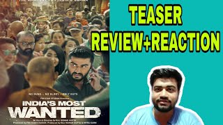 INDIA'S MOST WANTED TEASER REVIEW|ARJUN KAPOOR|RAJKUMAR GUPTA|RAJESH SHARMA