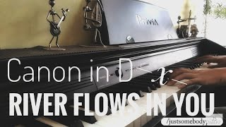 Canon In D X River Flows In You Piano