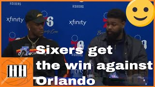Brett Brown, Jimmy Butler and Amir Johnson SIxers vs Magic | 06/03/19