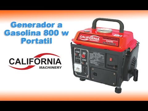Generador a gasolina de 800 w 2 HP portátil, generador a gasolina California Machinery