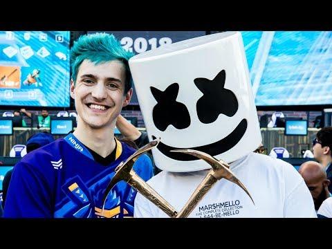 Marshmello & Ninja WIN FORTNITE Pro-AM!!! | E3 Battle Royale Celebrity Tournament