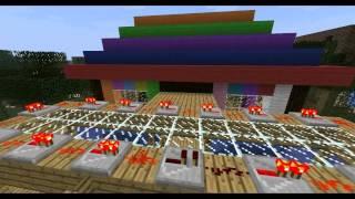 Minecraft- PIRATE SHIP, PLANE, SPONGEBOB and DOMO :)