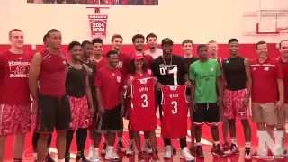 Dwyane Wade and Gabrielle Union visit Husker Hoops
