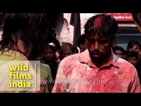 Muslim followers practice self-flagellation on the eve of Muharram - Delhi