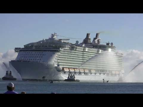Cruise Ship Oasis of the Seas Video Royal Caribbean arrival in Port Everglades