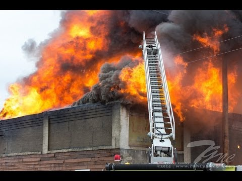 Large Structure Fire Ogilvie, MN 5/7/2014