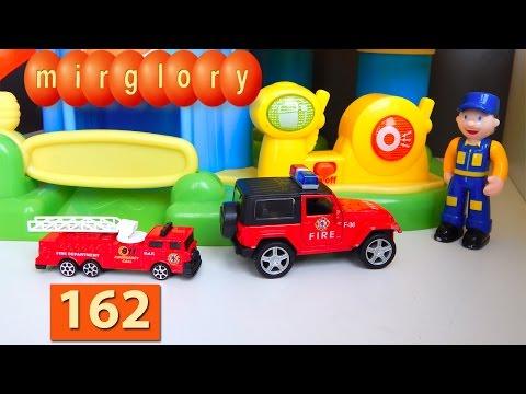 Мультик про машинки: Пожарная машина Автомойка Город машинок 162 серия Мультфильмы для детей видео
