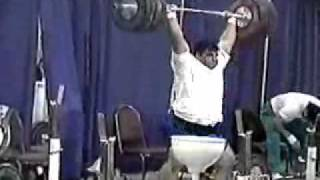 Hossein Rezazadeh Olympic Weightlifting Training Front Squat