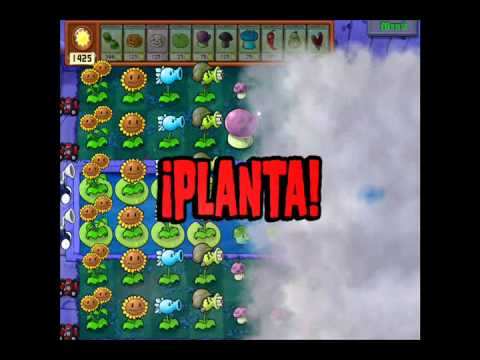 Plantas vs Zombies Supervivencia niebla [dificil]
