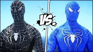 BLACK SPIDER-MAN VS THE AMAZING BLUE SPIDERMAN