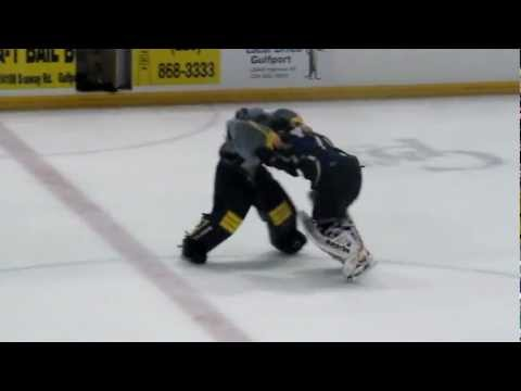 Pensacola Ice Flyers defeat the Surge, game ends with a goalie fight 11-10-12