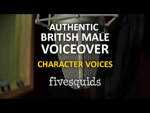 I will record British male character voices