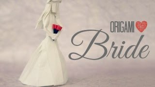 How To Make An Origami Bride / Wedding (tadashi Mori)