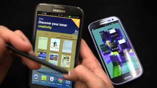 Samsung Galaxy Note II vs. Samsung Galaxy S III Dogfight Part 1