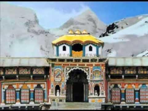 Shri Badrinath Aarti pavan Mand Sugandh Sheetal Hem Mandir Shobhitam video