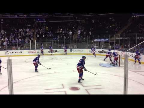 New York Rangers Pre-Game Warmup (60 FPS) - 1/13/15