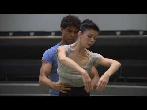 Natalia Osipova, Carlos Acosta and Peter Wright in rehearsals for Giselle (The Royal Ballet)