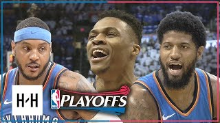 OKC Thunder BIG 3 Full Game 5 Highlights vs Jazz 2018 Playoffs - Westbrook, Paul George & Carmelo