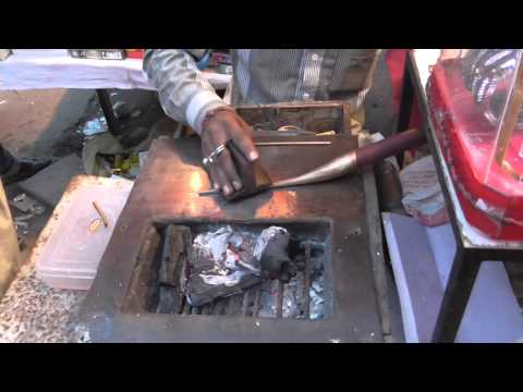 Bhopal, India:  Mosques and Chaotic Chowk Bazaar (Market)