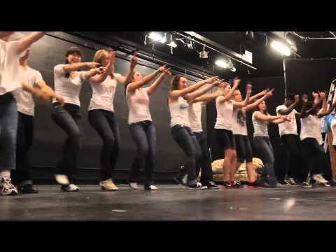 Flash mob at Milford High School