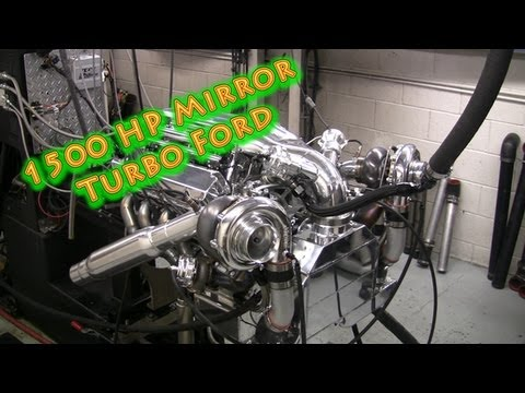 New 1500 HP Mirror Image Turbo Ford 428 Small Block.  For Mustang & Fords. Nelson Racing Engines.