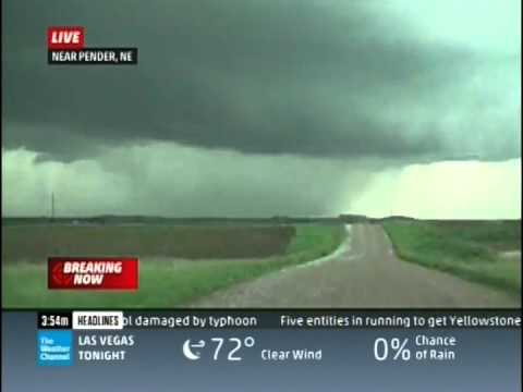 Pilger, NE Tornado Coverage (The Weather Channel)