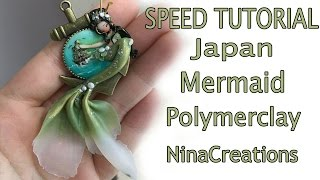 Speed Tutorial | polymerclay Japan Mermaid - NinaCreations