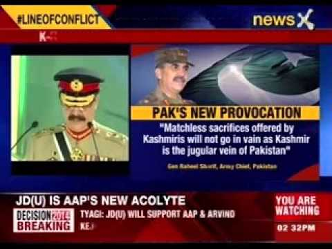 Pakistan Army Chief Claims Kashmir 'pak's Jugular' video