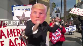 USA: Fists fly as Trump supporters rally for boycott of Oscars ceremony
