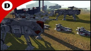 IMMENSE CLONE COUNTER ATTACK - Men of War: Star Wars Mod