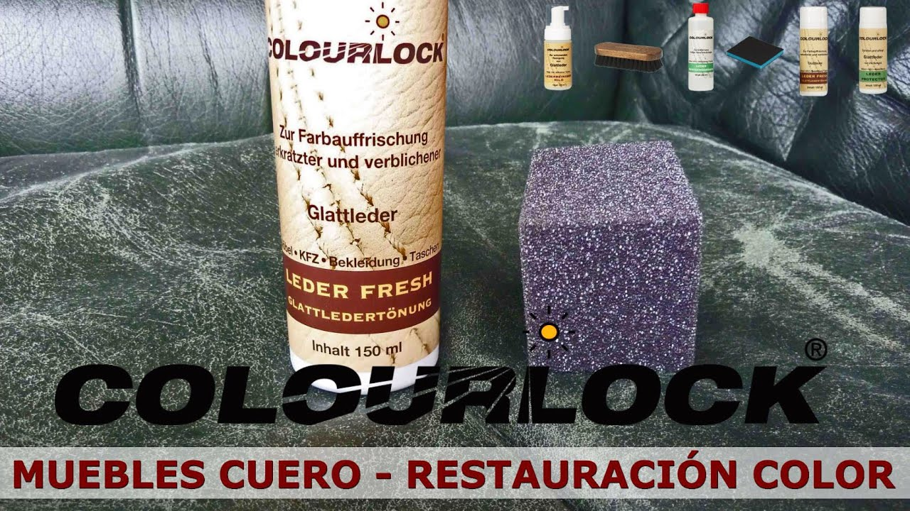 Muebles de cuero y piel restauraci n de color www - Limpiar un sofa ...