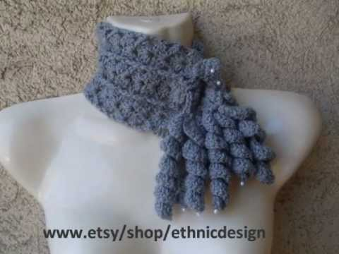 HOW CROCHET FREEFORM COWL SCARF PATTERN 22 - YouTube