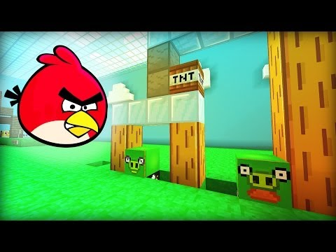 Minecraft Angry Birds video