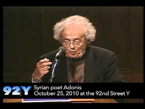 0 Syrian poet Adonis at the 92nd Street Y