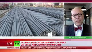Trump signs tariff order on imports of foreign steel and aluminum