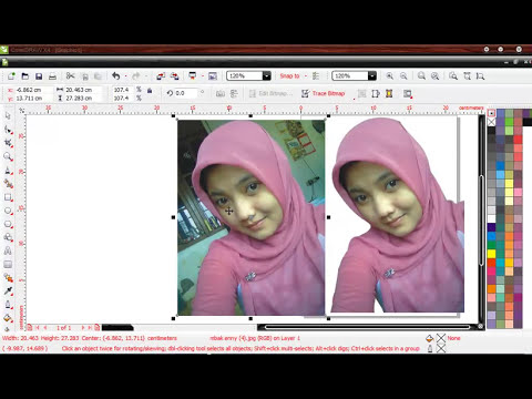 Tutorial Corel Draw - Membuang Background Gambar menggunakan Intersect