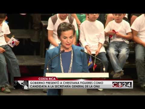 Gobierno costarricense presentó a Christiana Figueres para la Secretaría General de la ONU